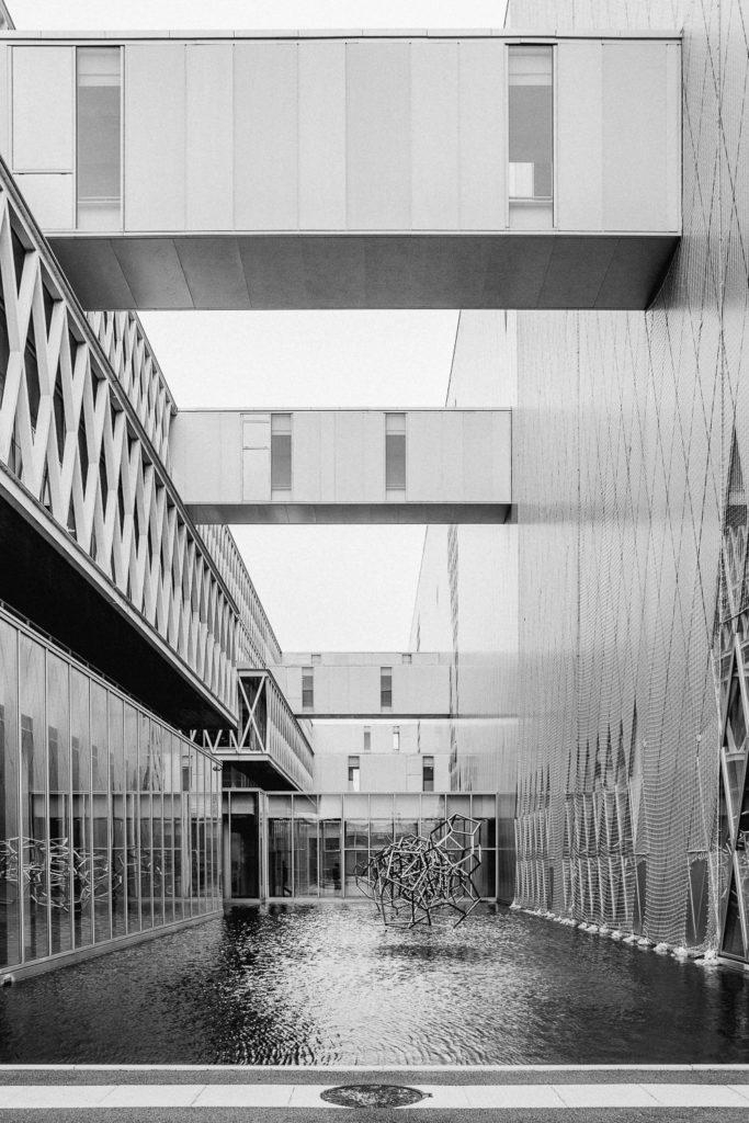 Archives Nationales di Parigi, fotografia in bianco e nero delle architetture