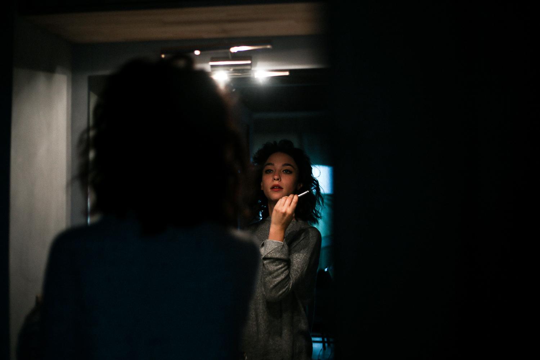 Ritratto di Matilda de Angelis allo specchio